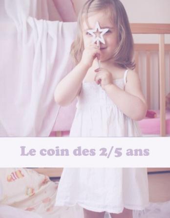 2- Le coin des enfants (2/5 ans)
