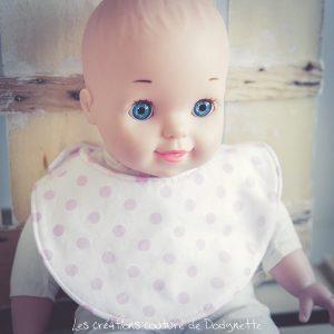 bavoir de poupée jeux