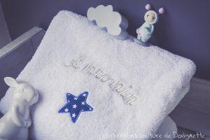 serviette brodée personnalisée dodynette
