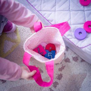 mini tote bag pour bebe en tissus