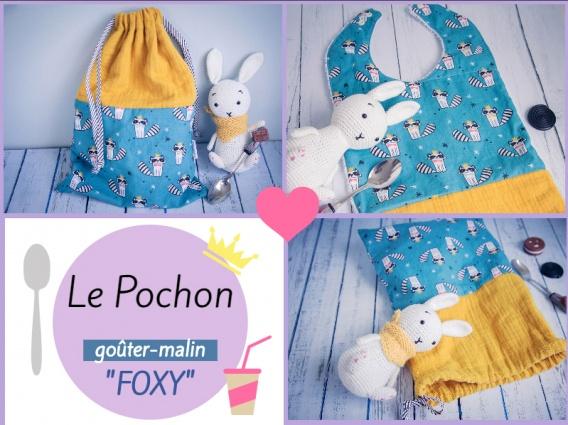 patron couture dodynette sac a gouter evolutif en bavoir foxy