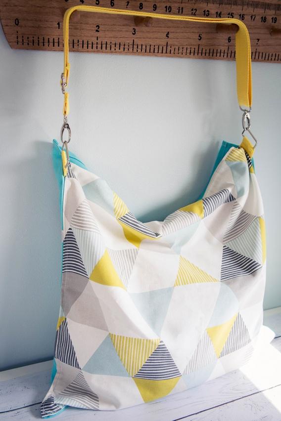 tutoriel de couture gratuit sac de plage avec drap de bain intégré