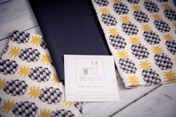 kit couture ananas sac en tissus dodynette