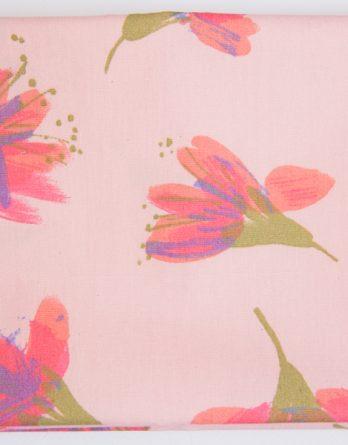 coupon de tissu fleurs envolées dodynette rico design