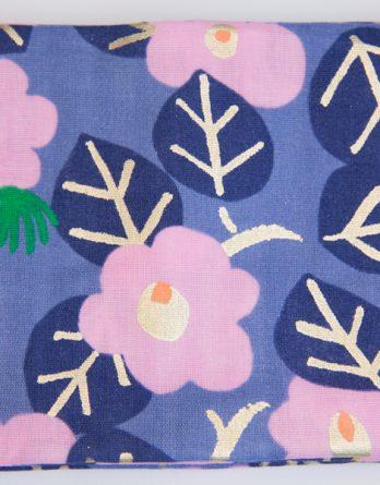 mousseline fleurs lurex