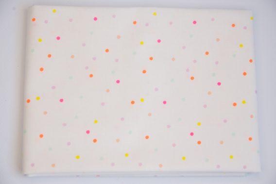 coupon tissu pois fluo pastel rico design dodynette