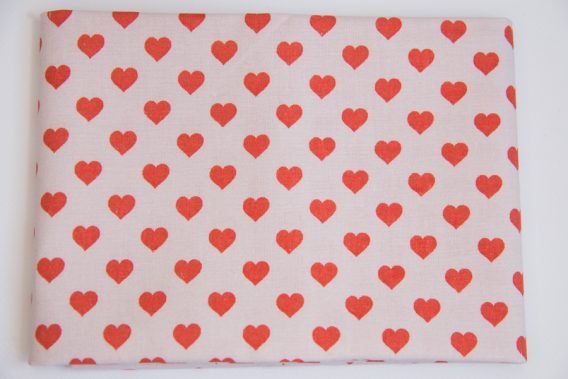 coupon tissu coeur rico design