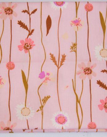 couton tissu guirlande de fleurs rico design