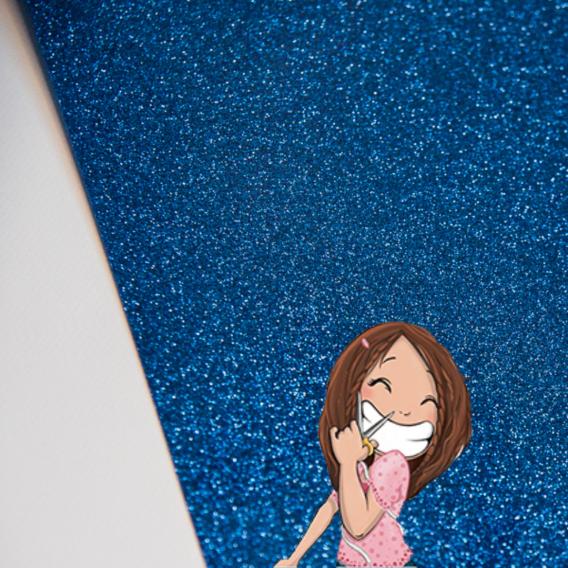 flex siser bleu pailleté glitter blue dodynette