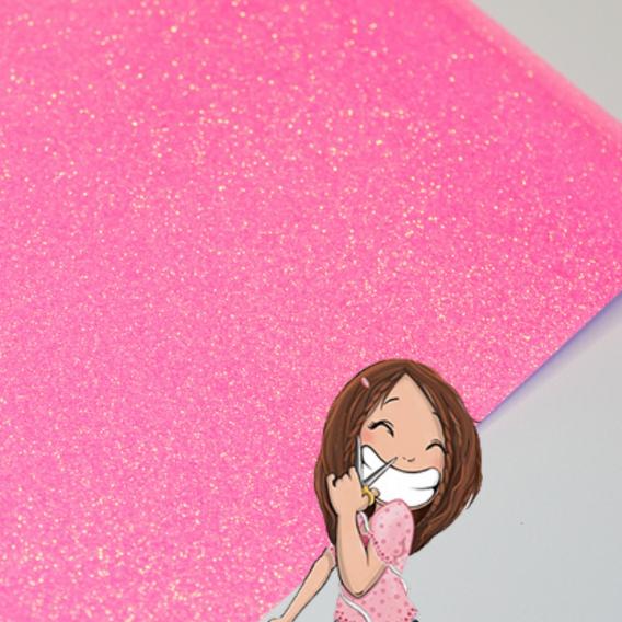 flex siser glitter rose fluo paillete