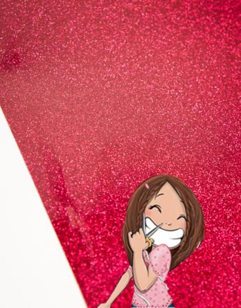 flex siser glitter cherry rouge cerise dodynette