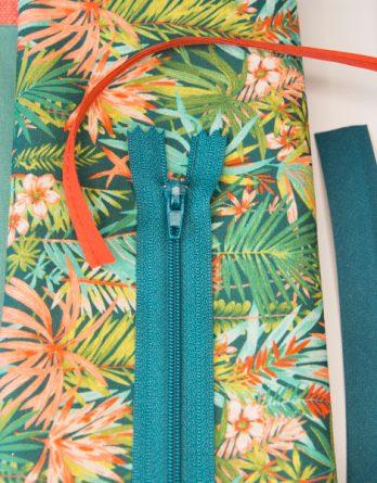 kit porte monnaie tropical